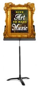 Give Art to Make Music