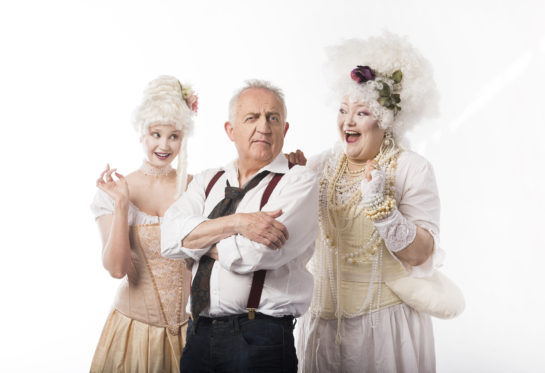 Rose-Ellen Nichols, Bramwell Tovey and Elaina Moreau in The Lost Operas of Mozart. Photo: Emily Cooper.